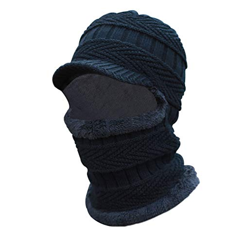 Sombrero pasamontañas Invierno cálido Bufanda Punto