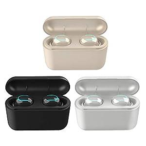 greatdaily Bluetooth Kopfhörer Kabellos Ohrhörer| U-Typ Bluetooth 5.0-Headset Twins Stereo In-Ear Mit Tragbarer Ladebox…