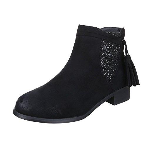 Italdesign Donna Tacco Da Con Chelsea Scarpe Boots rxqnrRB