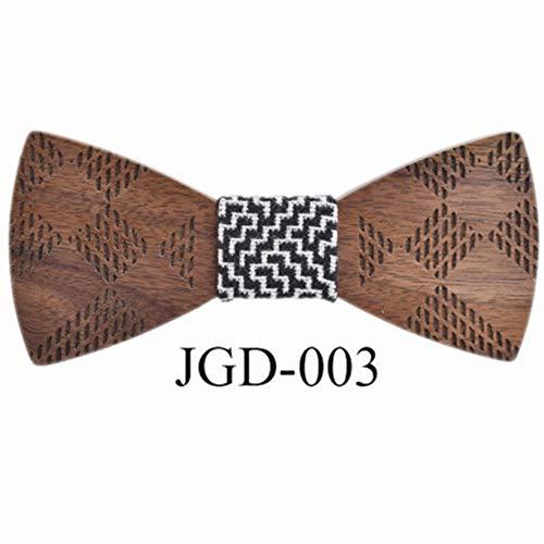 YAOSHI-Bow tie/tie Krawatten und Fliegen für Handgemachte Bogen-Bräutigam Groomsmen-Grün-kreative hölzerne Hochzeits-hölzerne Fliege Krawatten und Fliegen für (Farbe : 3, Größe : Free Size) (Bogen-krawatte Grünen Und Hosenträger)