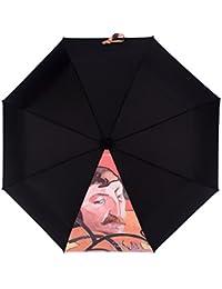 XFF Parasol Van Gogh Umbrella Vinyl Super Sun Protección UV Parasol Mujeres 50% Ultraligero,