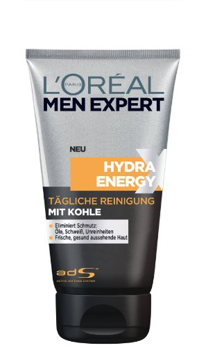 L'Oréal Paris men expert Hydra Energy tägliche Reinigung mit Kohle, 1er Pack (1 x 150 ml)