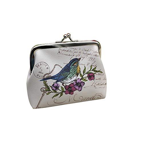 Monedero de Vi.yo, Bolso Embrague Monedero Cerrojo de Monedero Flor Vintage Antiguo para Mujeres y Niñas