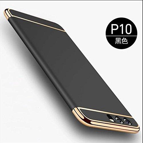 KUGI Huawei P10 Hülle, Huawei P10 Hülle - Hochwertige ultradünne Anti - Wrestling Schutzhülle Hülle für Huawei P10-Smartphone (Schwarz)