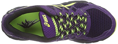 ASICS Gel-Fujitrabuco 4 G-Tx - Scarpe Da Corsa In Montagna da donna Porpora ( Black / Flash Yellow / Plum 9007 )