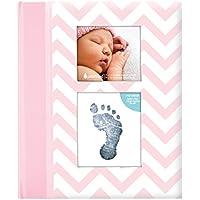 Pearhead - Libro de recuerdo de bebé, con patrón cheurón y textos en inglés