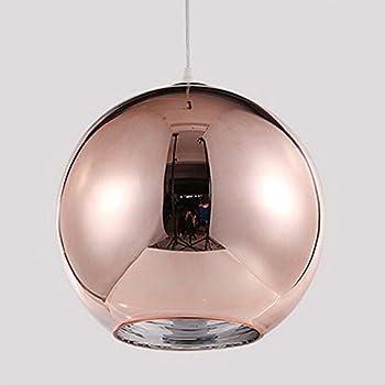 Motent industrial modern mini globe rose gold glass single head motent industrial modern mini globe rose gold glass single head ceiling lamp shade chromed ball pendant aloadofball Images