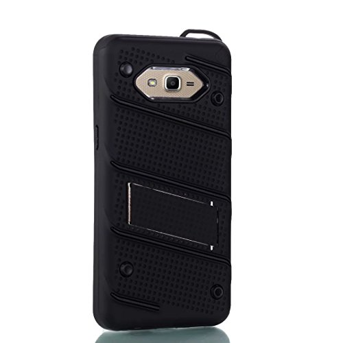 Ultra Thin Slim Dual Layer PC + Soft TPU Back Schutzhülle Case [Shockproof] mit Kickstand für Samsung Galaxy G530 ( Color : Black ) Black