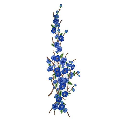 Treestar Sticker, bestickt, Spitze, Plum, Blumen, Äste für Kleidung, Nähen, Bügeln, Rucksäcke und Kleider