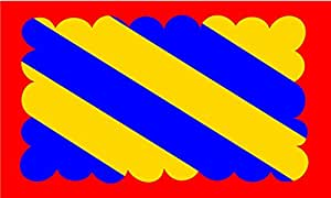 magFlags Flagge: Large Nivernais | Region Nivernais in France | Région Nivernais en France | Querformat Fahne | 1.35m² | 90x150cm » Fahne 100% Made in Germany