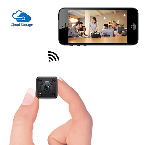 Mini Cámara Espía WiFi, Videocámara Remota Inalámbrica Oculta Bysameyee 1080P con Detección Movimiento/Visión Nocturna en Interiores,Cámara de Seguridad IP Portátil para iPhone, Android