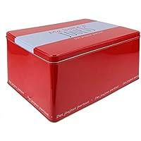 LA BOITE A BT6560 Boîte à Jouets Métal Rouge 30,50 x 22,50 x 16 cm