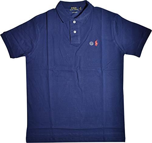 Ralph Lauren Polo Poloshirt Small Pony CSF Navy Größe XXL