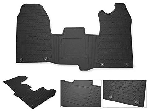 Hitech OEM ZMATCUSTOM Fully Tailored Premium Van Front Rubber Floor Mat