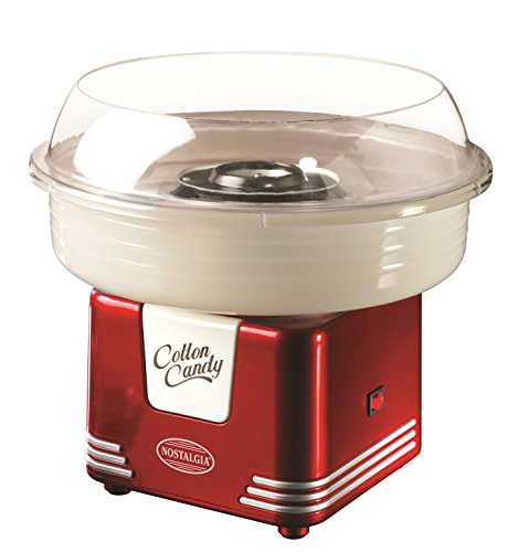Nostalgia Electrics PCM405RETRORED Retro Series Hard and Sugar Free Cotton Candy Maker