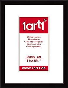 August Macke Poster Kunstdruck und MDF-Rahmen Schwarz - Kathedrale Zu Freiburg In Der Schweiz, 1914 (80 x 60cm)