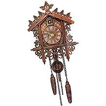 Sharplace Reloj de Péndulo Colgante de Reloj Pared Antiguo Uso Diario Adornos Habitación - 2