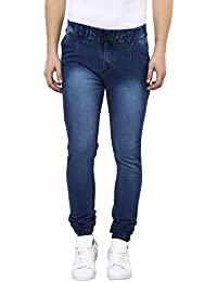 Urbano Fashion Men's Blue Slim Fit Stretchable Jogger Jeans