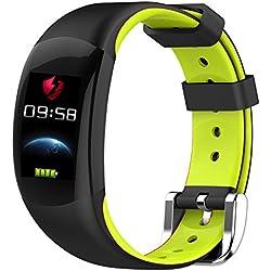 LEMFO LT02 - Pulsera elegante color LCD Pulsera de fitness, Pulsómetros  Fitness pulsera IP68 Impermeable Podómetro Smart Band Bluetooth - Verde