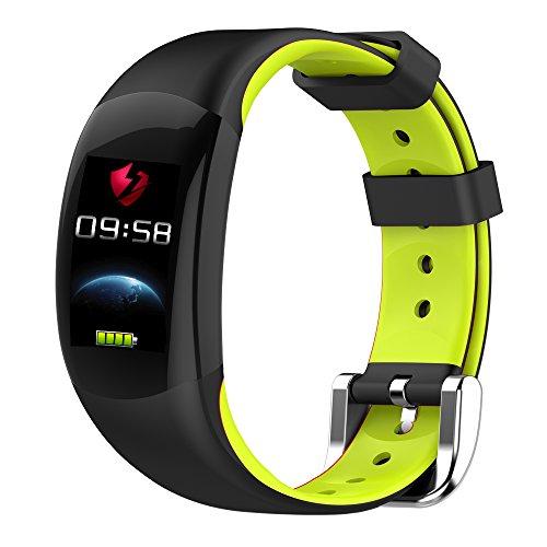 LEMFO LT02 - Smart Armband Farbe LCD Fitness Armband, Pulsmesser IP68 Wasserdicht Schrittzähler Smart Band Bluetooth - Grün