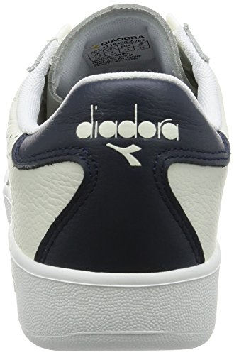 Diadora Herren B.Elite Premium L Sneakers Elfenbein (Bianco/blu Mar Caspio)