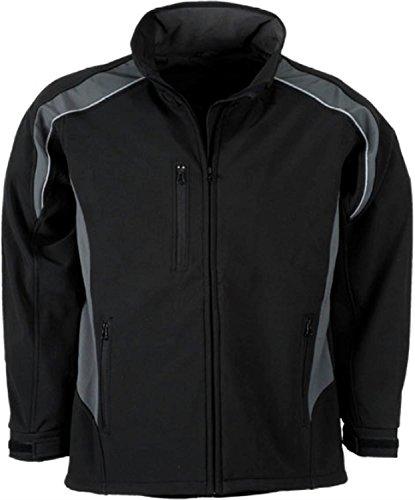 Softshell Jacke - Winddicht - Wasserabweisend - Atmungsaktiv | in 2 Ausführungen erhältlich schwarz/grau