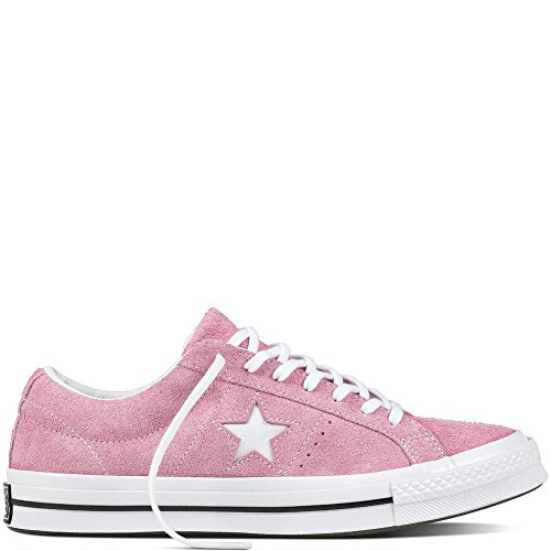 Converse Unisex-Kinder Lifestyle One Star Ox Suede Fitnessschuhe Pink (Light Orchid/White/Black 523) 36 EU