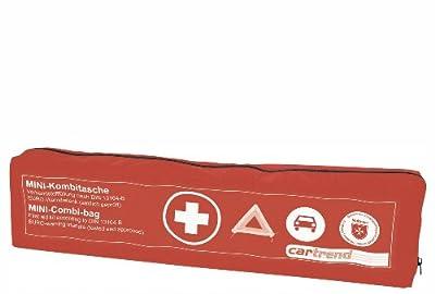 Cartrend 7730044 Kombitasche mit Klettband, rot, DIN 13164, mit Malteser Erste-Hilfe-Sofortmaßnahmen