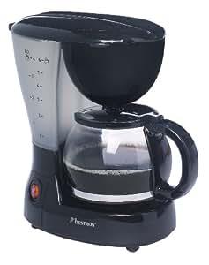Bestron ACM16 Coffee & Tea Cafetière 6 Tasses 600 W Noir