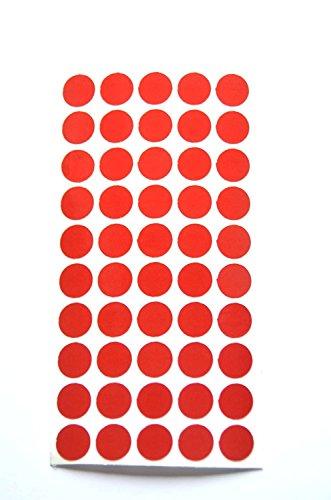 REflektoren Punkte Klebepunkte reflektierend Makierung Geocaching reflective Dots reflektierende kreise (50, rot) (Kreis Leuchtet Rot)