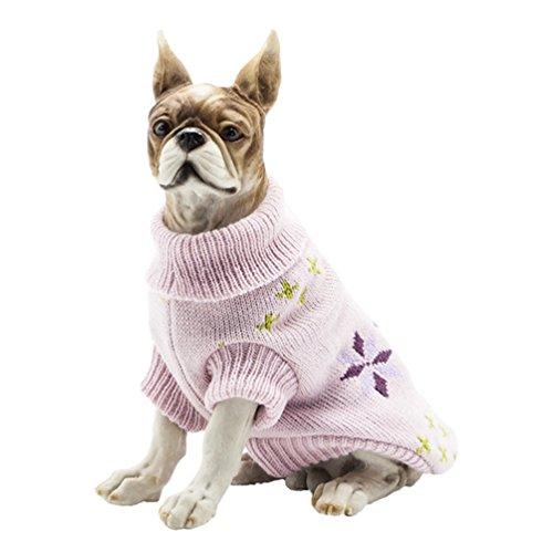 YiJee Kleine Hundchen Atmungsaktiv Gestrickte Pullover Haustier Hund Halloween Warme Kleidung Pink M