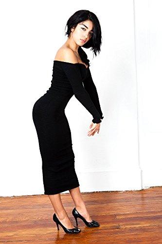 Mollet Sexy Cocktail Par KD dance NYC Cozy élégant Prune