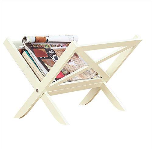 MODYL Zeitungsregal Einfache Tisch Regal Ständer Veredelung Lager-Rack Mini Home Zeitung Rack Falten Bücherregal -