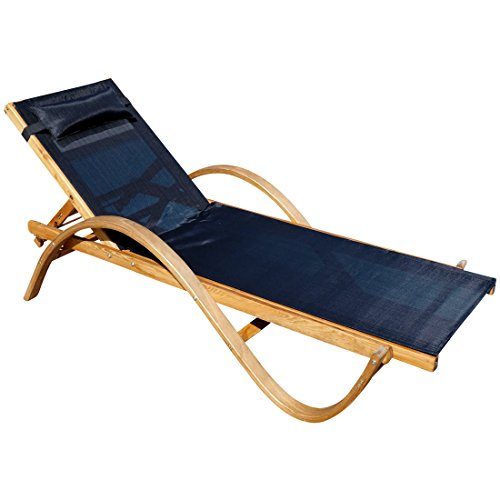 ASS Sonnenliege Paraiso aus Holz Lärche mit Kopfpolster von