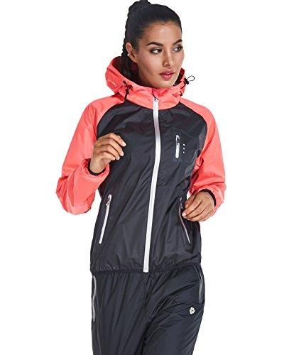 Cody Lundin Schwitzanzug Saunaanzug Trainingsanzug Frauen Fitness Gewichtsverlust Sauna Suit für Damen (M, color-b)