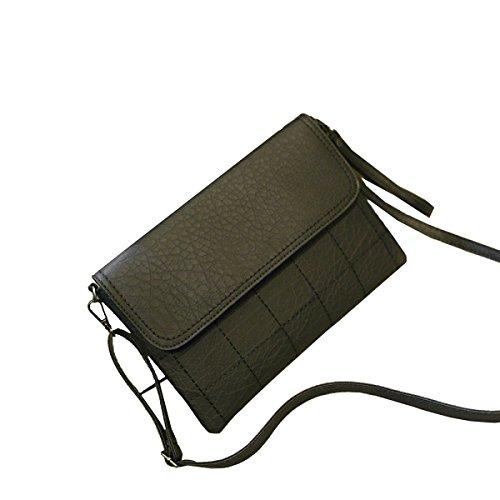 Sacchetto Yy.f Envelope Bag Semplici Borse Di Modo Sacchetto Del Messaggero Di Spalla Donne Retro Del Pacchetto Sacchetto Della Borsa Modo Pratico Esterno Interno. Multicolore Black