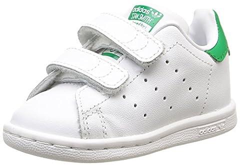 adidas Stan Smith, Chaussures Bébé marche bébé garçon, Blanc (White/White/Green), 23 EU (18-24 months Bébé UK)