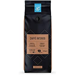 "Marque Amazon - Happy Belly Café torréfié en grains ""Caffè Intenso"" (2 x 500g)"