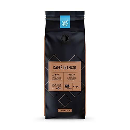 "Marca Amazon - Happy Belly Café de tueste natural en grano ""Caffè Intenso"" (2 x 500g)"