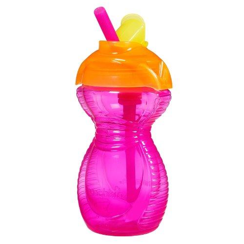 Munchkin Click Lock 9oz Flip Stroh Cup–Pink (Munchkin-cup-stroh)