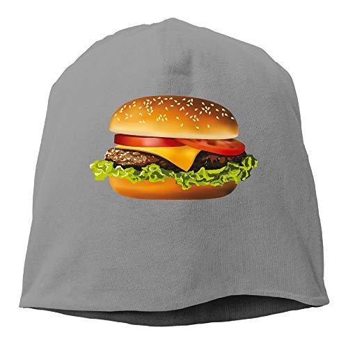 mfsore Männer und Frauen Cheeseburger Warm Stretchy Daily Beanie Hat Skull Cap Outdoor Winter one Size - Zutano Baumwolle Beanie
