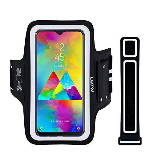 Handyhülle Laufen, EOTW Sportarmband Handyhülle universell Kompatibel mit Samsung Galaxy M20/A40/A50, Xiaomi Redmi Note 6 Pro, Oberarm Handytasche für Joggen (6,5