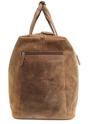 LEABAGS Sydney sac de voyage rétro-vintage en véritable cuir de buffle - Noix de muscade Marron