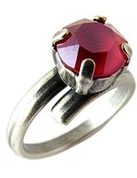 Lily-Crystal [Q2723 - Anillo Hecho a Mano 'Tsarine' en Oro Rojo - 8 mm.