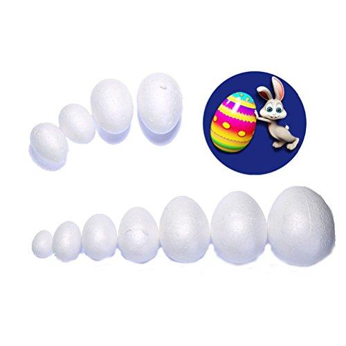 LUOEM 50 Uova di Pasqua in polistirolo da dipingere o incollare 7 cm