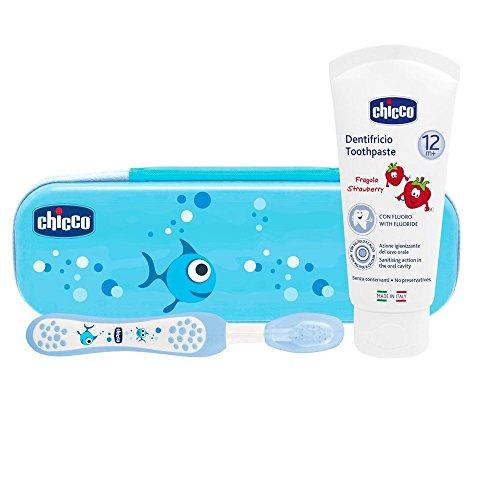Chicco - Kit Brosse à Dent Chicco - 23170 - Bleu, Bleu