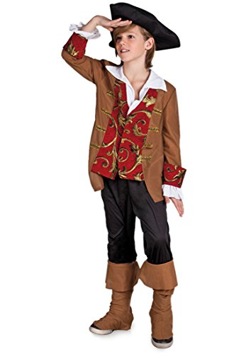 Weltentdecker Columbus Pirat Kinder Kostüm 7-9 Jahre