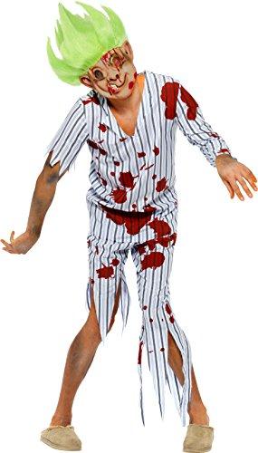 Smiffys, Herren Zombie-Oger Kostüm, Oberteil, Hose, Maske und Perücke, Größe: L, 23354