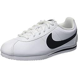 Nike Cortez, Zapatillas Unisex Niños, Blanco (White/Black), 40 EU