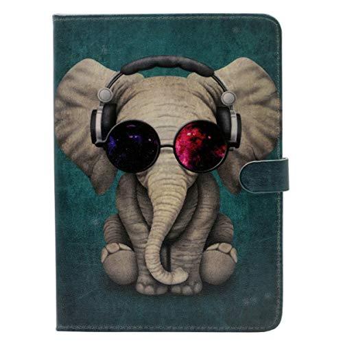 Schutzhülle für iPad Mini 3/2/1 (Motiv: Elefant mit Sonnenbrille, Leder)